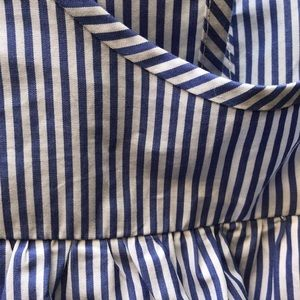 J. Crew Tops - NWOT J Crew striped shirt with ruffle size 2